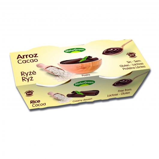 Dessert di Riso Cacao NaturGreen, 2 x 125 g