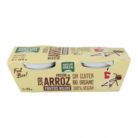 Dessert di Riso Frutti Rossi NaturGreen, 2 x 125 g