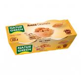 Sobremesa de aveia caramelo NaturGreen, 2 x 125 g