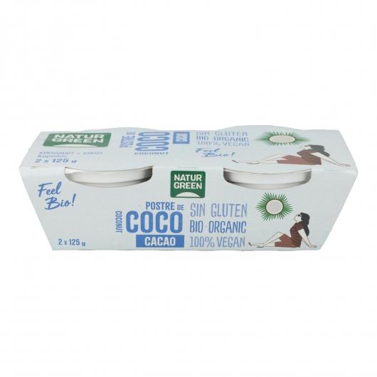 Postre de Coco Cacao Naturgreen, 2 X 125 g