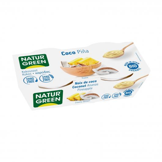 Dessert di Cocco Pigna NaturGreen, 2 x 125 g