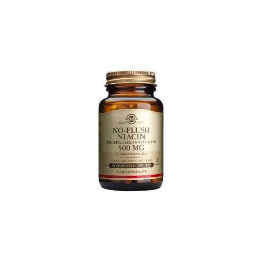 Niacina Anti-rossore 500 mg Solgar, 50 capsule vegetali