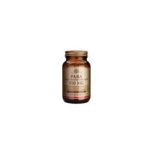 Paba Ácido para Aminobenzoico 550 mg Solgar, 100 cápsulas vegetales
