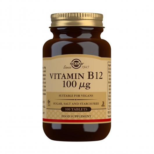 Vitamina B12 100 μg Cianocobalamina Solgar, 100 compresse