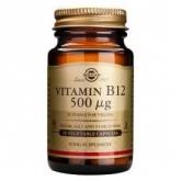 Vitamina B12 500 μg Cianocobalamina Solgar, 50 cápsulas vegetales