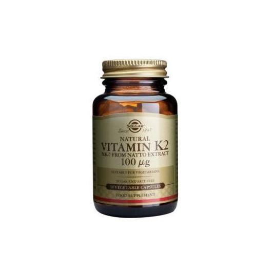Vitamina K2 Menaquinona-7 100 μg Solgar, 50 Cápsulas vegetales