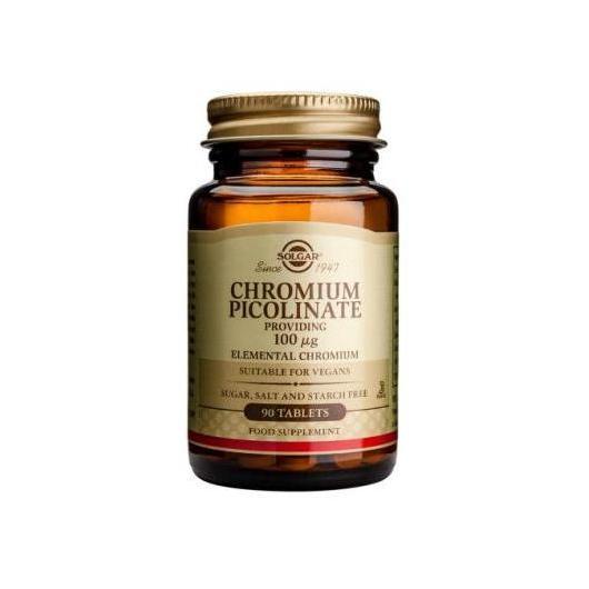 Cromo Picolinato 100 μg Solgar, 90 comprimidos