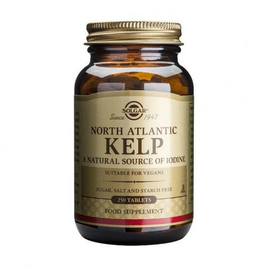 Kelp Yodo del Atlántico Norte Solgar, 250 comprimidos