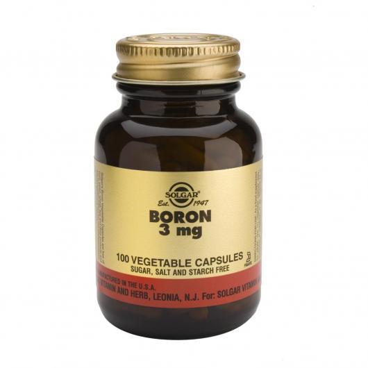 Boro 3 mg Solgar, 100 Cápsulas vegetales