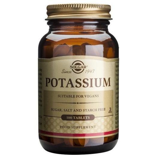 Potasio Gluconato Solgar, 100 comprimidos