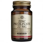 Solgar Zinc Picolinate 22 mg, 100 comprimidos