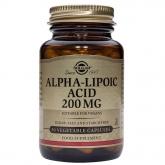 Alpha Lipoic Acid 200 mg Solgar, 50 cápsulas vegetais