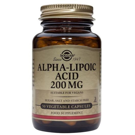 Ácido Alfa Lipoico 200 mg Solgar, 50 Cápsulas vegetales