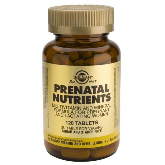 Nutrientes Prenatales Solgar