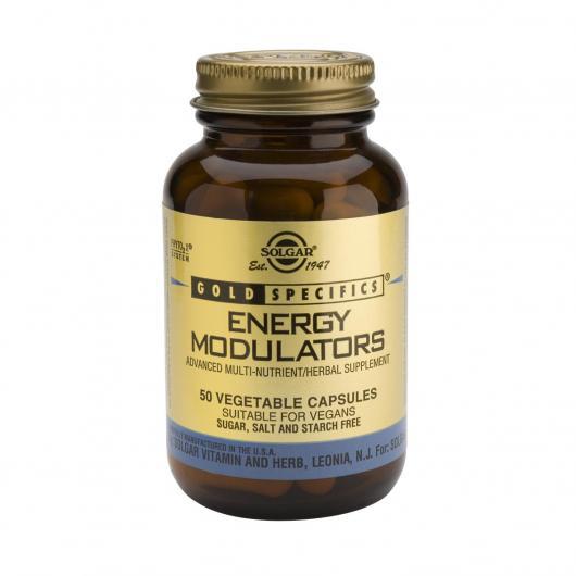 GS® Energy Modulators Solgar, 50 Capsule vegetali