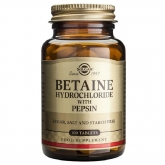 Betaina Clorhidrato con Pepsina Solgar, 100 compresse