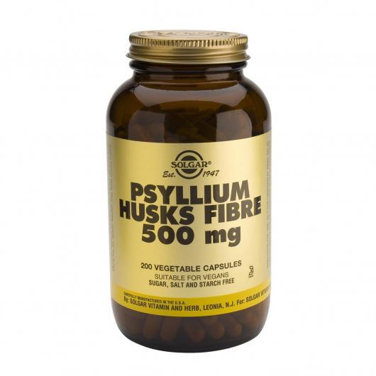 Fibra de cáscaras de Psyllium 500 mg Solgar, 200 cápsulas vegetales