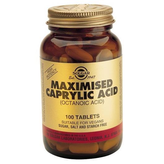Acide Caprylic (Maximised Caprylic Acid) Solgar, 100 comprimés