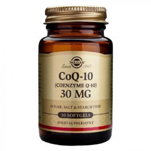 Coenzima Q-10 30 mg Solgar, 30 perlas