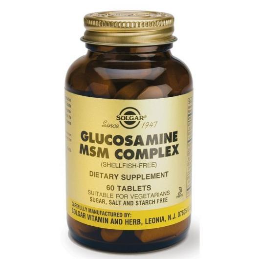 Glucosamine MSM Complex Solgar, 60 comprimidés
