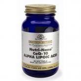Nutri Nano ™ CoQ 10 con Ácido alfa lipoico Solgar, 60 cápsulas blandas