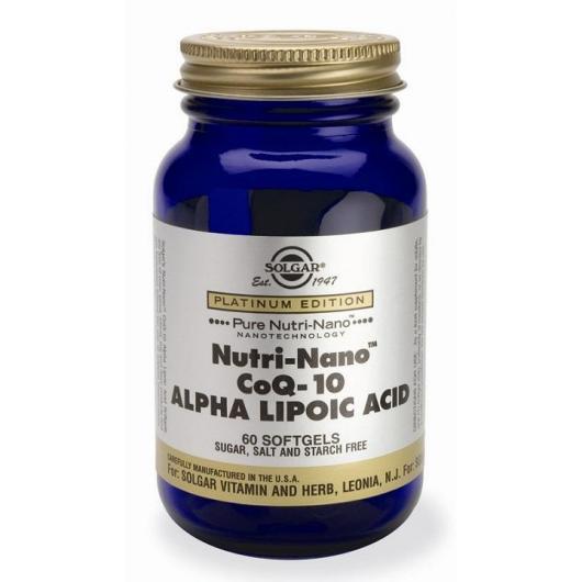 Nutri-Nano™ CoQ-10 avec acide alpha-lipoïque Solgar, 60 softgels