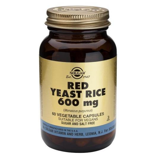 Levadura Roja de Arroz Solgar, 60 cápsulas vegetales