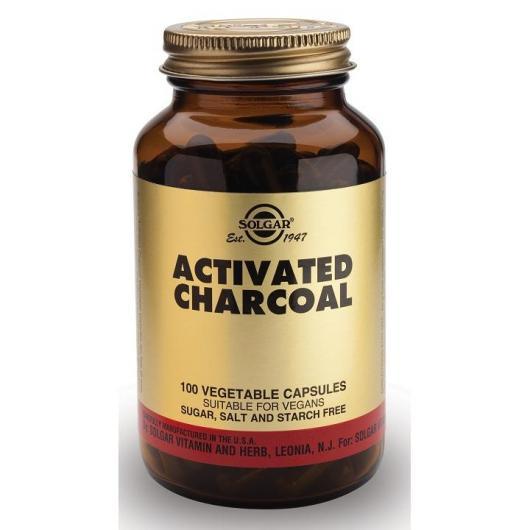 Charbon végétal activé Solgar, 100 gélules végétales