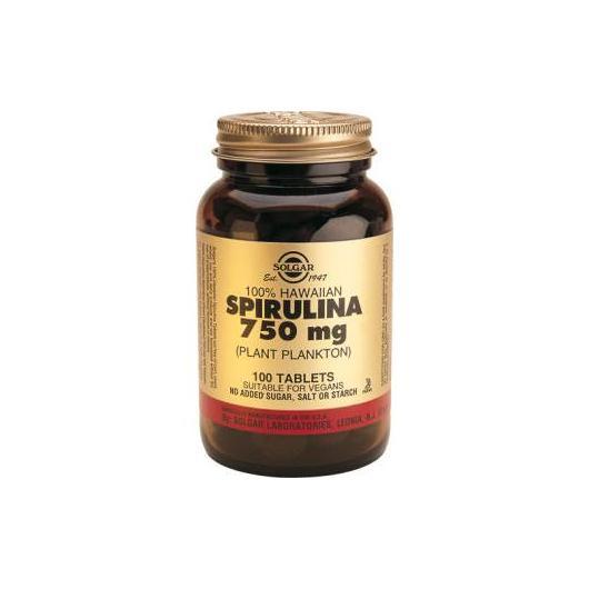 Spiruline d'Hawaï 750 mg Solgar, 100 comprimés