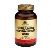 Solgar cinnamon alpha-lipoic acid 60 tablets