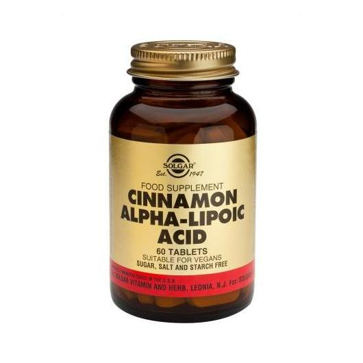 Cannella Cinese cin Acido Alfa Lipoico Solgar, 60 compresse