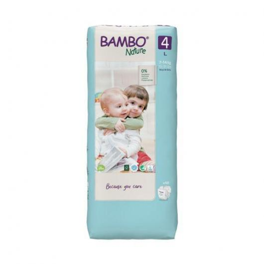 Couches Bambo maxi 7-18 kg, 60 pièces