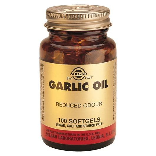 Perlas de aceite de Ajo Solgar, 100 cápsulas blandas