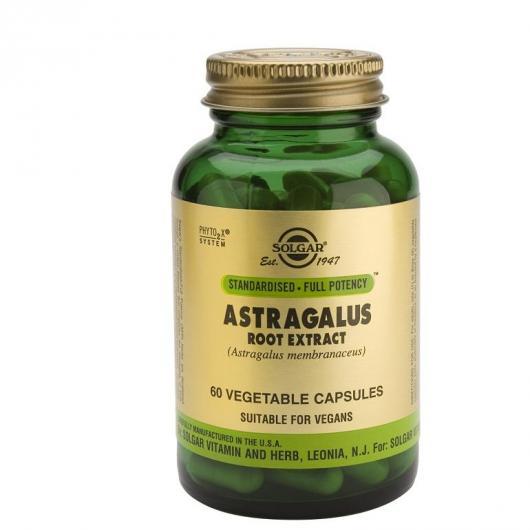 Extrait de racine d'astragale Solgar, 60 gélules végétales