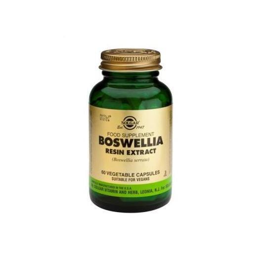 Boswellia Extracto de resina Solgar, 60 cápsulas vegetales