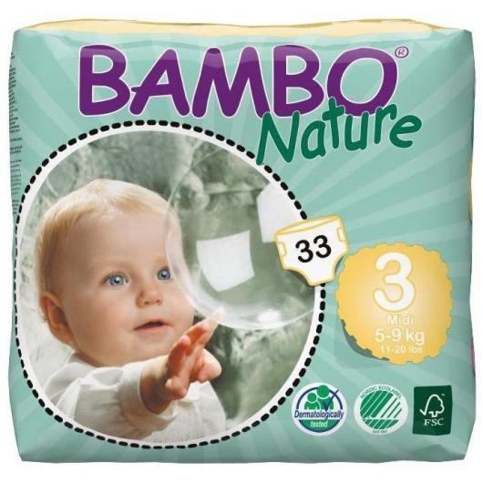 Pañal Bambo midi 5-9Kg, 33ud