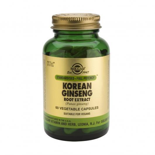 Ginseng coreano Estratto di radice Solgar, 60 capsule vegetali