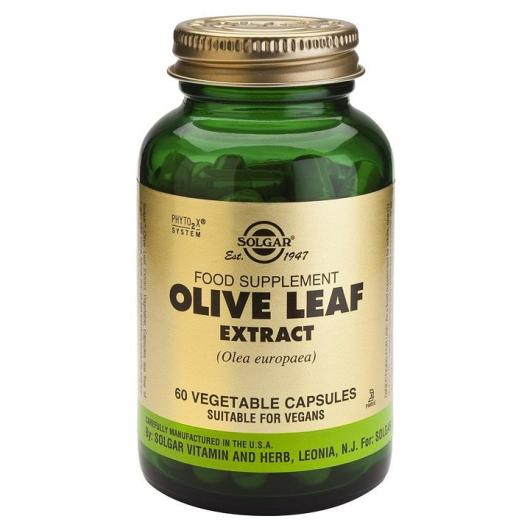 Extrait de feuille d'olivier Solgar, 60 gélules végétales