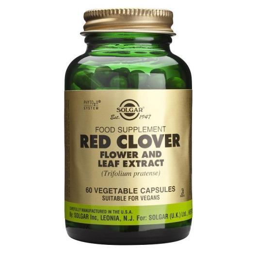 Trèfle rouge Solgar, 60 gélules végétales