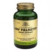 Extrait de baies de Saw Palmetto (chou palmiste) Solgar, 60 gélules végétales