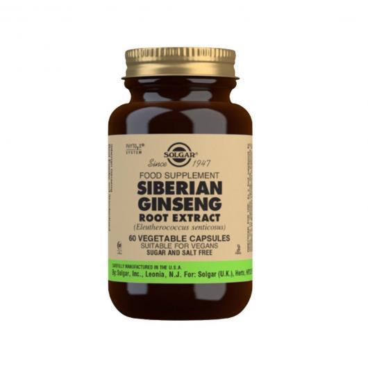 Ginseng Sibérien Extrait de Riz Solgar, 60 capsulas végetales