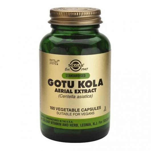 Gotu Kola Extracto Aéreo Solgar, 100 cápsulas vegetales