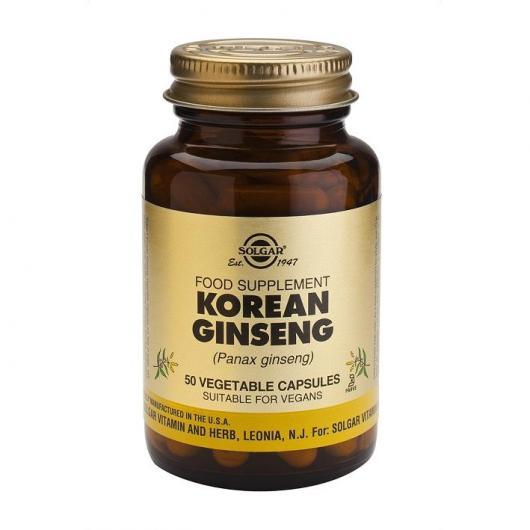 Ginseng Coreano Solgar, 50 cápsulas vegetales