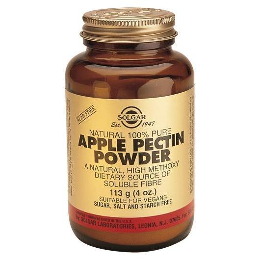 Pectine de pomme en poudre pure 100% naturelle Solgar, 113 g