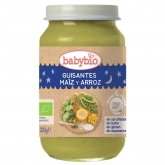 Babybio Good Night babyfood with peas, corn & rice 200g