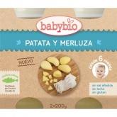 Babybio Menu Patata y Merluza 2 x 200 grs