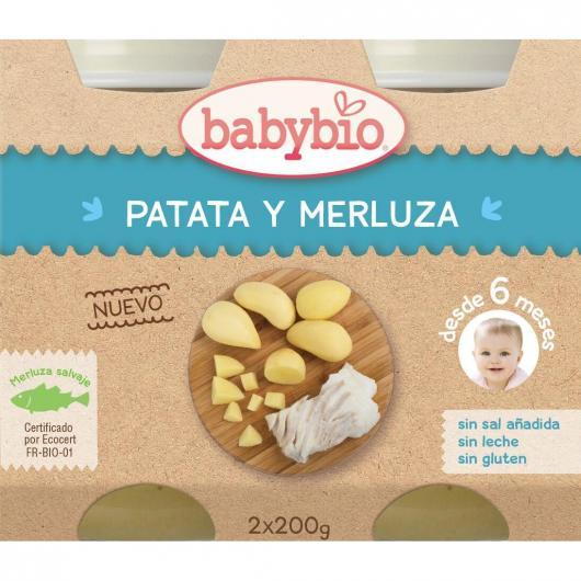Petit pot Menu Patates et colin Babybio, 2 x 200 g