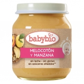 Babybio peach & apple babyfood 130g