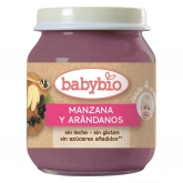 Babybio apple & blueberry babyfood 130g