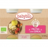 Babybio fruit with cereal babyfood 2 x 130g